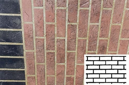 Finished Face Brick Pattern Concrete Stencil