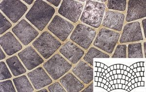 Finished Fish Scale Pattern Concrete Stencil