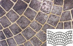 Finished Fish Scale Pattern Concrete Stencil