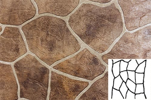 Finished Flagstone Pattern Concrete Stencil