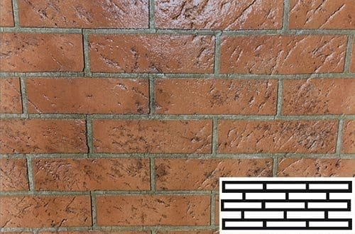 Finished Hudson Brick Pattern Concrete Stencil