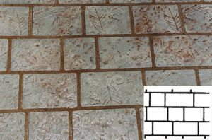 Finished Jumbo Brick Pattern Concrete Stencil