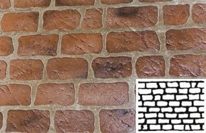 Finished Old Chicago Brick Concrete Stencil