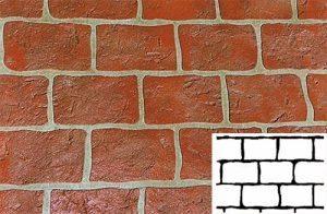 Finished Rustic Brick Pattern Concrete Stencil