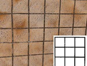 Finished Square Tile Pattern Concrete Stencil