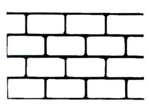 Non-Adhesive Cinder block Stencil by SureCrete