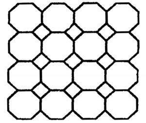 Non-Adhesive Diamond tile Stencil by SureCrete
