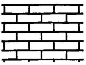 Non-Adhesive Face Brick Stencil by SureCrete