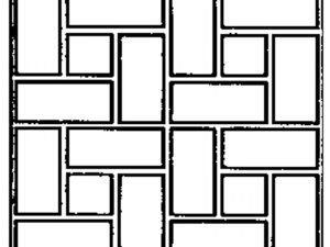 Non-Adhesive Pinwheel Stencil by SureCrete