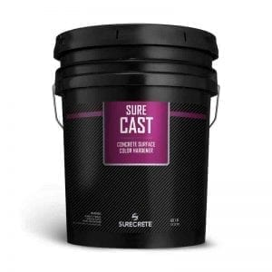 New Concrete Color Hardener Dry Powder Broadcast SureCast™ by SureCrete