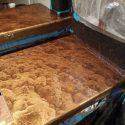 3D metalic countertop