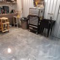 Home Shop Metallic Floor