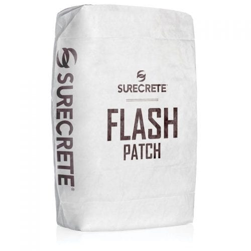 Flash Patch™ is a single component cement based thin concrete repair patching compound system providing a workable, no-slump patch that sets quickly for the quicker return to service. Available in a white portland cement formulation, just add water!