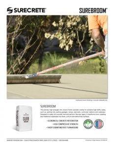 Concrete Overlay Broom Finish