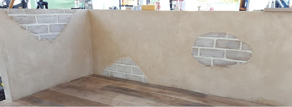 Creating the Concrete Wall with Faux Brick Appearance