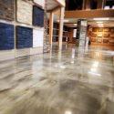 Champagne and Pearl Metallic Showroom Floor