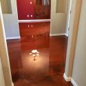 Mahogany and Coffee Metallic Floor