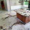 Metallic granite finish Kitchen