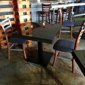 Metallic Restaurant Tables project bronze