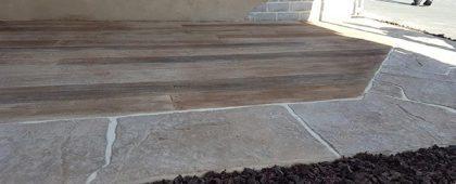 concrete outdoor living space