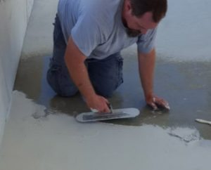 concrete overlay grout line prep