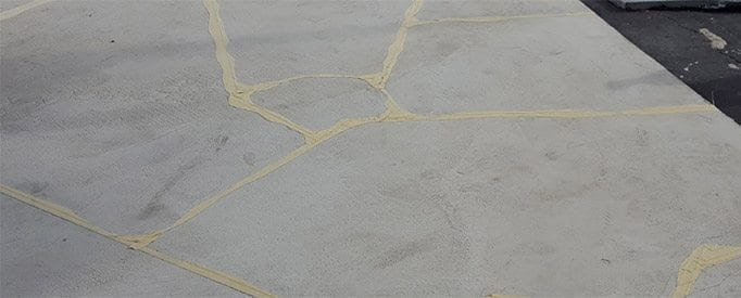 flagstone custom tape pattern irregular shape