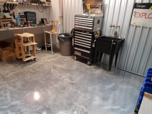 Metallic Floor In a Man-Cave