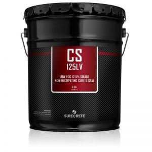 CS-125% Solids Low Voc is a solvent based, non-dissipating, color enhancing, gloss finish curing membrane that meets ASTM Standards