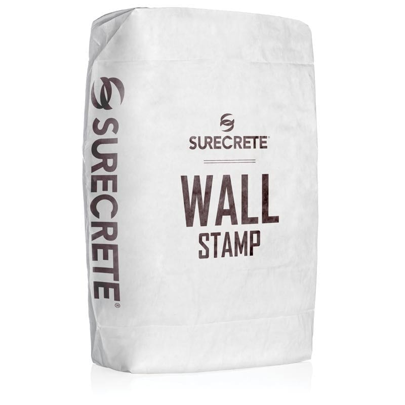 SureCrete's WallStamp™ is a concrete wall stamp overlay mix that is stampable and also carvable. Special formulated for applying on a vertical surface with little to no slumping or sagging at 3/4 inch. Add color to enhance depth and design.
