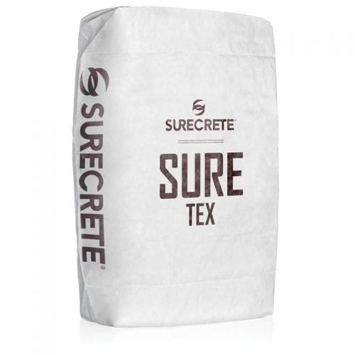 SureTex is a concrete knockdown overlay that has larger slightly larger aggregate than other overlays to help creates deeper textures and designs. SureTex is specially formulated for quicker dry time and can be applied with a trowel or sprayed with a hopper gun. This overlay is easy to mix, just add water and one of SureCrete's standard 30 overlay colors.