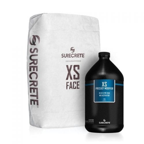 XS GFRC Face Mix is a dual component cement based bag mix that perfectly reads the mold or casting surface providing a near flawless precast casting for countertops, furniture, tiles and wall panels and much more. Xtreme Series Face Mix is available in a gray and white cement-based mix.