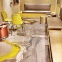 Yellow Gray and White Metallic Epoxy Flooring Cruise Ship