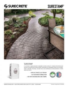 SureCrete SureStamp™ Sales Sheet