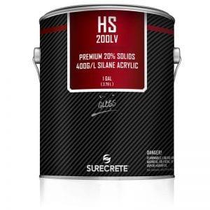 1 Gallon Low VOC Premium Exterior Clear Stamped Concrete Sealer 20% Solids HS 200LV™