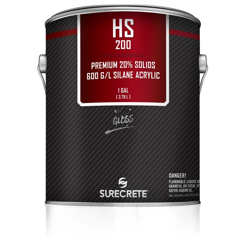Exterior Clear Stamped Concrete Sealer HS 200 20% Solids by SureCrete