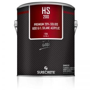 SureCrete's HS 200 Series is a premium exterior Silane Basedclear stamped concrete sealer for durable protection on driveways and pool decks as well as high traffic walkways and sidewalks. HS 200 Series is a 20% Solids silane based acrylic sealer that is availablein a low-VOC formula.
