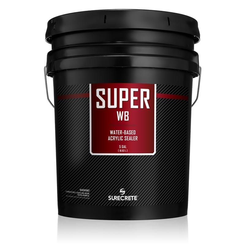 SureCrete Super WB is a water-based clear outdoor sealer for pool decks and patios on both concrete and pavers. Unlike solvent clear acrylic sealer, Super WB can be used in locations where a low VOC. is required.