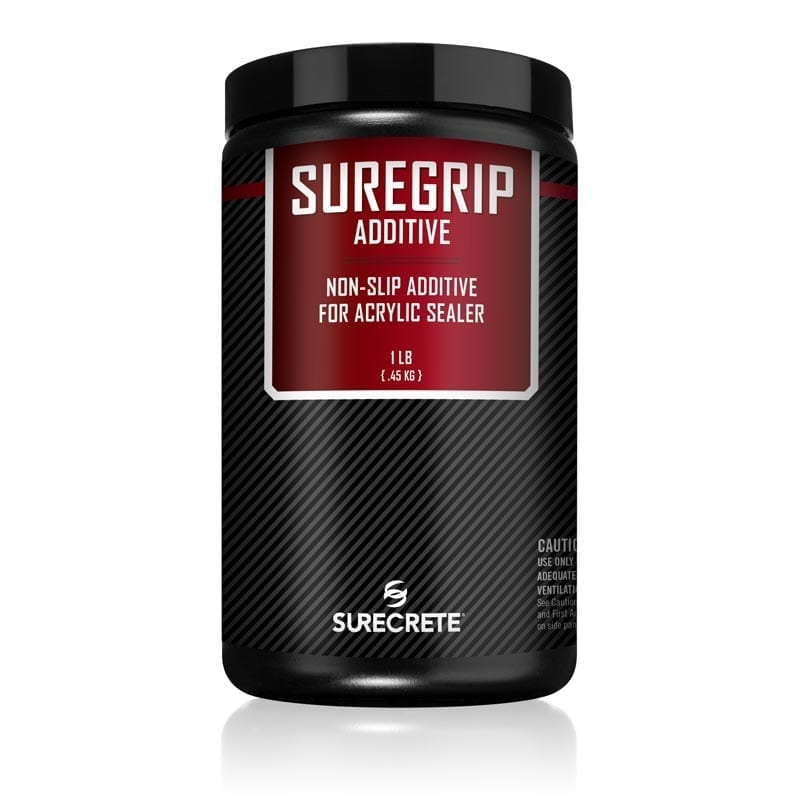 SureGrip™ SureCrete's interior and exterior floor sealer non-slip grip additive, SureGrip is a product that can be added to a sealer or coating as well as broadcasted over the applied surface.