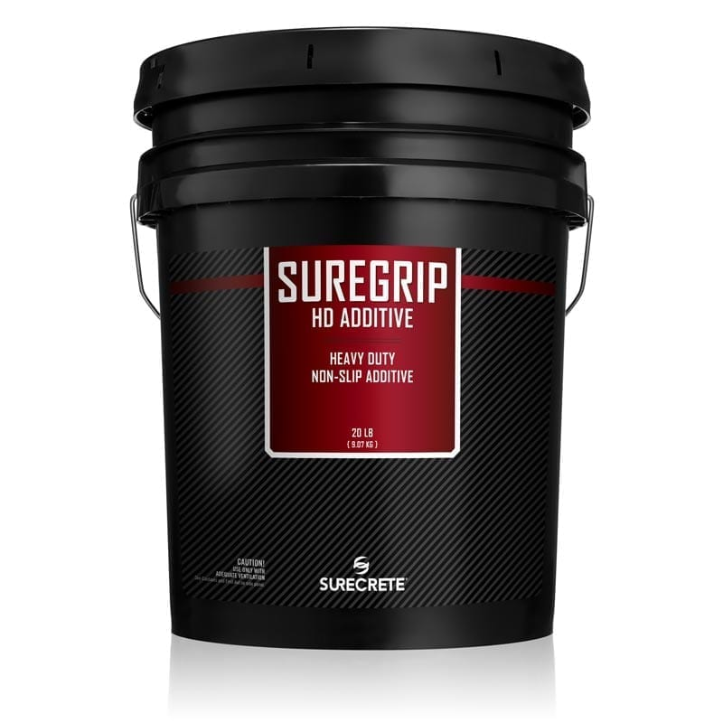 20Lb. Commercial Non-Slip Product for indoor and outdoor Sealers Heavy Duty Additive To help with slip and Falls SureGrip HD™ Additive by SureCrete