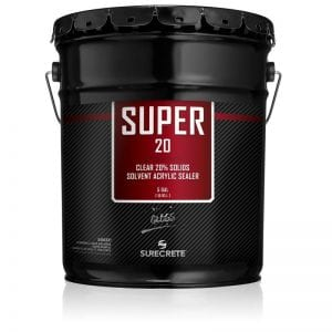 5 Gallons 20% Solids Exterior Concrete Clear Sealer Solvent Acrylic Super 20™ by SureCrete