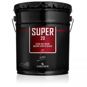 5 Gallons 20% Solids Exterior Concrete Clear Sealer Solvent Acrylic Super 20™ by SureCrete