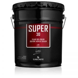 5 Gallons 30% Solids Exterior Concrete Clear Sealer Solvent Acrylic Super 30™ by SureCrete