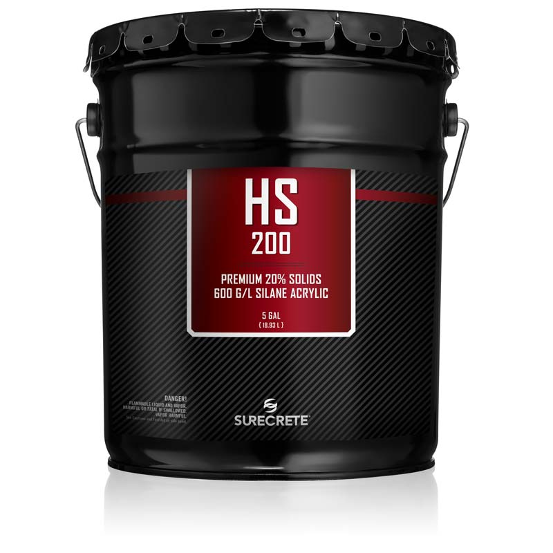 5 Gallons Premium Exterior Clear Stamped Concrete Sealer 20% Solids HS 200™