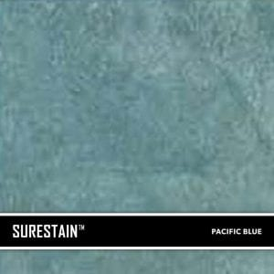 Blue SureStain™ is a low residue concrete acid stain that comes in 8 earth-tone colors. Made from a very mild hydrochloric or phosphoric acid solution, wetting agents, and metallic ions (salts), and specially formulated pigments