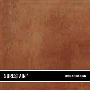 Brown SureStain™ is a low residue concrete acid stain that comes in 8 earth-tone colors. Made from a very mild hydrochloric or phosphoric acid solution, wetting agents, and metallic ions (salts), and specially formulated pigments