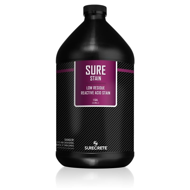 Concrete Acid Stain 8 Earth Tone Colors 1 Gallon - SureStain™