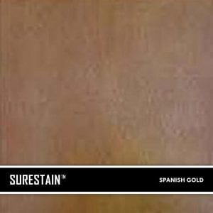 Gold SureStain™ is a low residue concrete acid stain that comes in 8 earth-tone colors. Made from a very mild hydrochloric or phosphoric acid solution, wetting agents, and metallic ions (salts), and specially formulated pigments