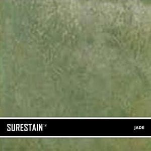 Jade SureStain™ is a low residue concrete acid stain that comes in 8 earth-tone colors. Made from a very mild hydrochloric or phosphoric acid solution, wetting agents, and metallic ions (salts), and specially formulated pigments