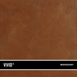 Mahogany VIVID is a reactive acid stain that creates a beautiful variegated appearance by reacting with calcium and lime in concrete and cement-based overlays.