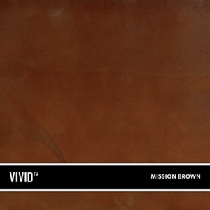 Mission Brown VIVID is a reactive acid stain that creates a beautiful variegated appearance by reacting with calcium and lime in concrete and cement-based overlays.